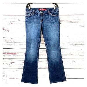 Express Jeans - EXPRESS | X2 Faded Distressed Low-Rise Flare Jeans